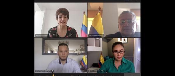 Consulado de Colombia en Lima realizó el primer evento consular comunitario virtual 'Pregúntele al consulado'